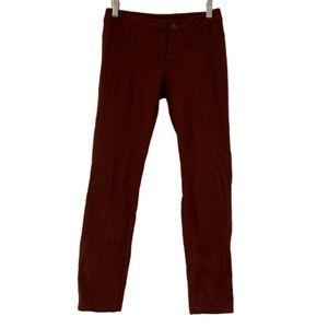 INC stretch maroon skinny pants